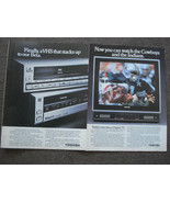 Dallas Cowboys & Toshiba VHS Full Page Color Print Ads From The 1980's V... - $7.99