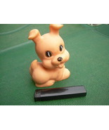 Vintage USSR Soviet Russian Rubber Toy Dog Puppy About 1974 - $12.86