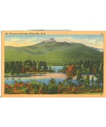 Mt. Chocorua and Lake, White Mts. NH, unused linen Postcard  - $5.99