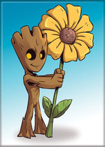 Guardians of the Galaxy Baby Groot with a Daisy Art Image Refrigerator Magnet - $3.99