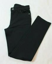 Childrens Place Girls Jegging Pants Size 12 Black Stretch Knit Skinny St... - $19.79