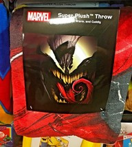 "Marvel Comics Venom Face 46"" X 60"" Throw Blanket - $39.59"