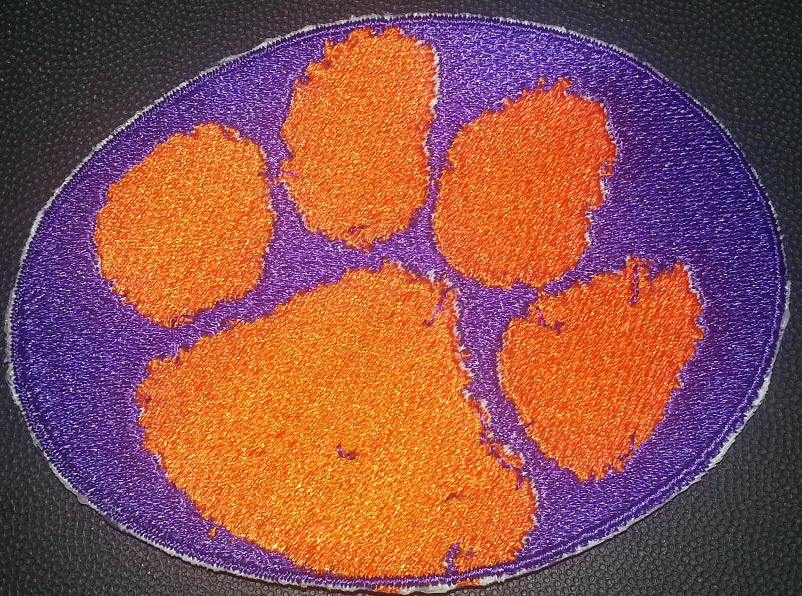 Clemson Tigers logo Iron On Patch