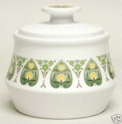 Noritake Palos Verde China: #9020 Sugar Bowl w/Lid