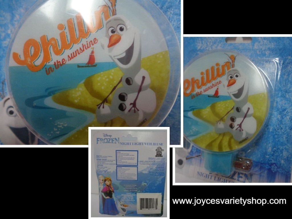 Primary image for Frozen Olaf Night Light NIB Self Chillin In The Sunshine Free Shipping
