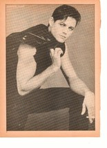 Michael Pare teen magazine pinup clipping Holding a Jacket Tiger Beat Teen Beat