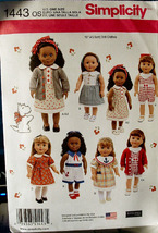"Pattern 1443 Fits American Girl Doll Clothes for 18""  Cute! - $5.00"