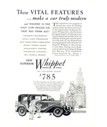 1929 Willys-Overland Whippet Six Cylinder Sedan print ad - $10.00