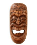 Wooden Tribal African Laughing Mask Hand Carved Wall Plaque Hanging Art ... - $48.49