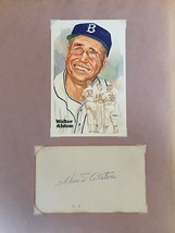 WALTER ALSTON AUTOGRAPH ON CUT CARD AND PHOTO - $63.70