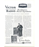 1925 vintage RCA Victor Micro Synchronous Radio print ad - $10.00