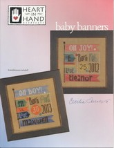 Baby Banners cross stitch chart Heart in Hand - $12.60