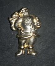 "Santa Vintage Pin/Brooch 1 1/2"" × 2 1/2"" cute!! - $8.90"
