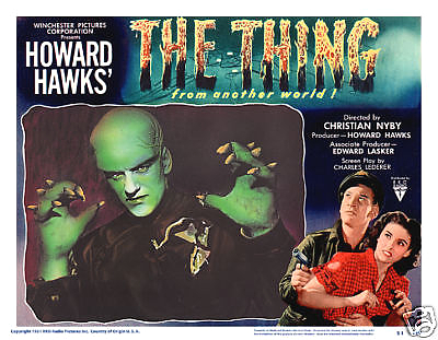 The thing poster 11x14 lobby card