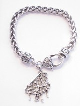 Piano Clear Crystals Silver Chain Fashion Lobster Claw Bracelet [Jewelry... - $12.86