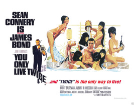You Only Live Twice Movie Poster 22x28 In James Bond Girls Agent 007 One Sheet - $34.99