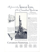 1928 Canadian National Railway System Triangle Tour print ad - $10.00