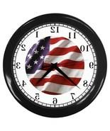 American Flag Backwards Decorative Wall Clock (Black) Gift model 35664699 - $18.18