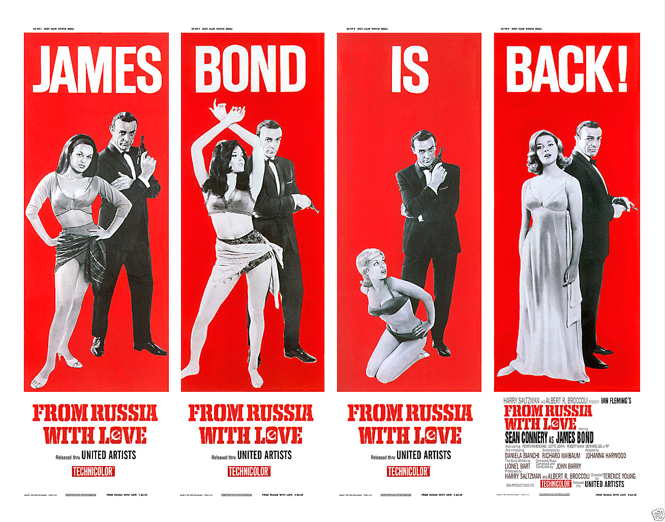 Primary image for FROM RUSSIA WITH LOVE POSTER 11X14 LOBBY CARD JAMES BOND IS BACK! 007 CONNERY