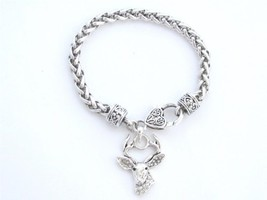 White-Tailed Deer Clear Crystals Fashion Lobster Claw Bracelet [Jewelry]... - $12.86