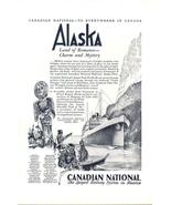 1928 Canadian National Railway System Alaska Cruise print ad - $10.00