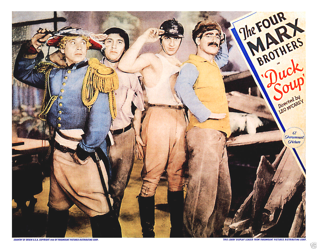 Duck soup lobby card poster 11x14