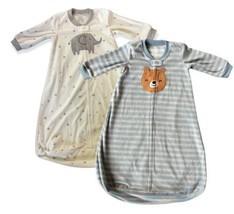 Carters Baby Fleece Sleep Sack Bag Bundle Size 6-9M Long Sleeve Full Zip  - $18.81