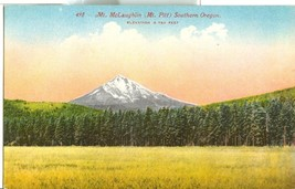 Mt. McLaughlin, Mt. Pitt, Southern Oregon, early 1900s unused Postcard  - $7.99