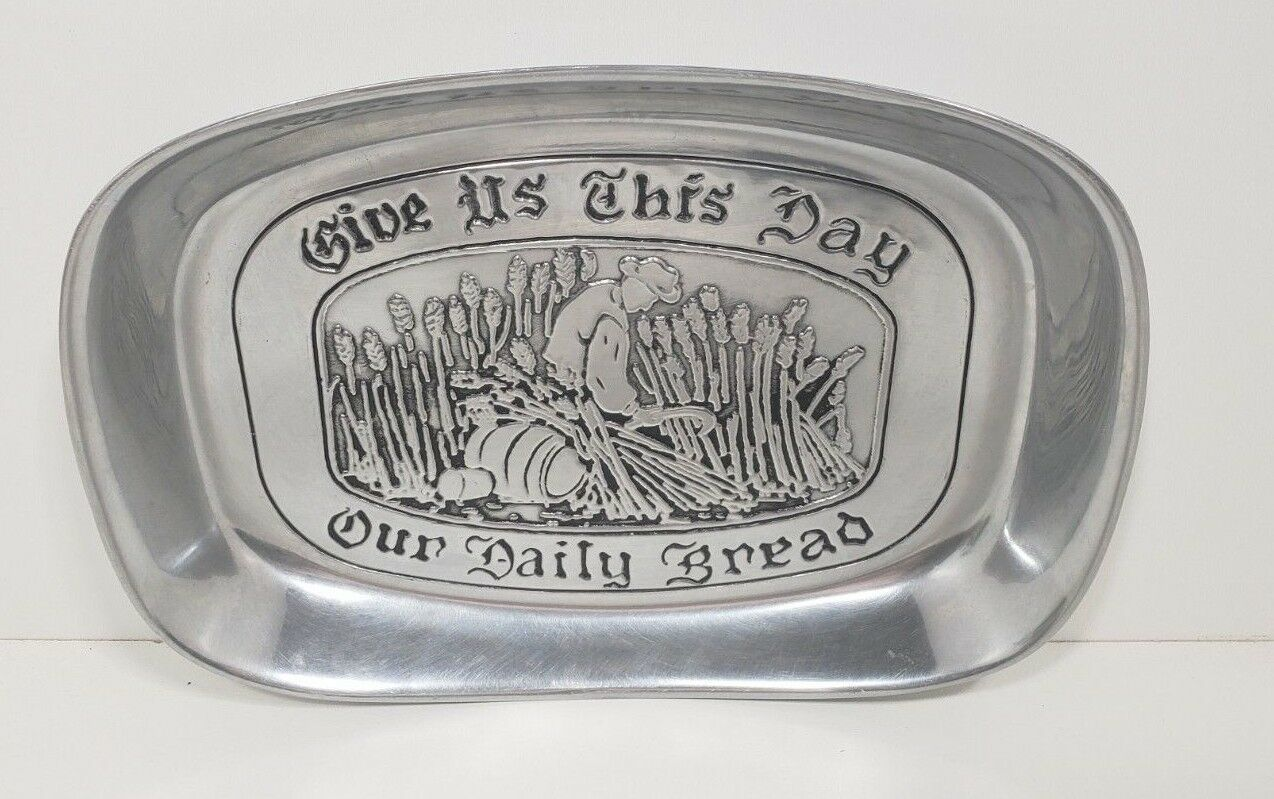 "Primary image for Wilton Armetale Pewter Tray ""Give Us This Day our Daily Bread"""