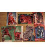 Jurassic Park 3 Trading Cards Dino cards Lot! 1 Die cut 2 Human Rest Din... - $16.49