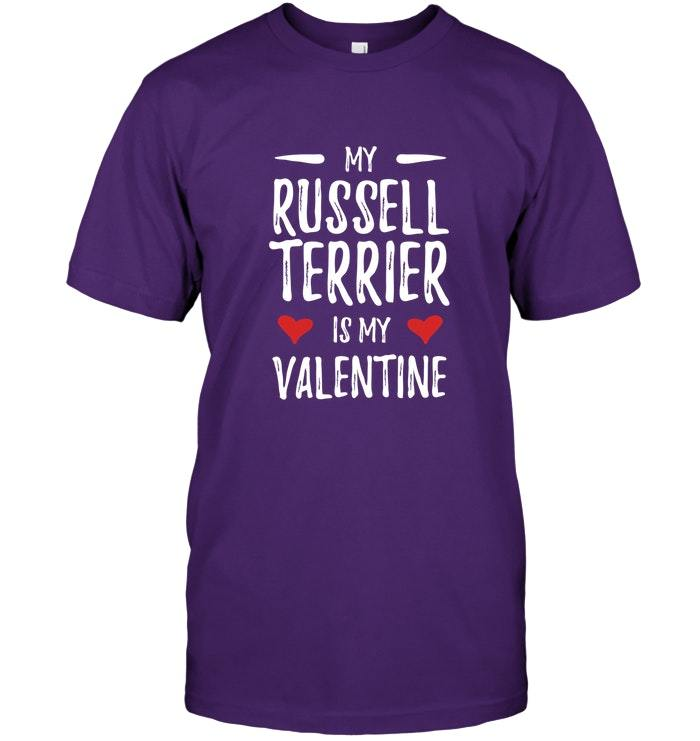 My Russell Terrier Is My Valentine TShirt for Dog Mom