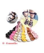 Kids Newborn Infant Baby Girl Leather High Bandage Pram Shoes 0-6 months - $6.95