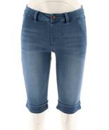 Laurie Felt Silky Denim Bermuda Pull-On Shorts Denim Blue S NEW A290637 - $30.67