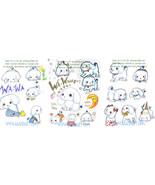 Ultra Cute San-X Wa-Wa Shivering White Poodle Puppies Art - Playful Pups... - $24.99