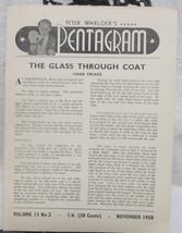 Pentagram, Peter Warlock's Vol. 13  1958-1959 - $34.30