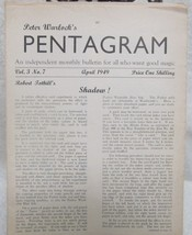 Pentagram, Peter Warlock's Vol. 3 1949 - $34.30