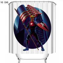 Cartoon Super heroes Shower Curtain Waterproof Polyester Fabric For Bath... - $33.30+