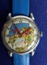 RARE Antique 1950s Tin Toy Wrist Watch Story Time Cowboy Western Theme - $98.99