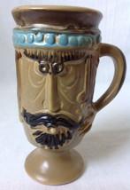 Vintage Pacific Stoneware Man Face Mug Beard Mu... - $24.95