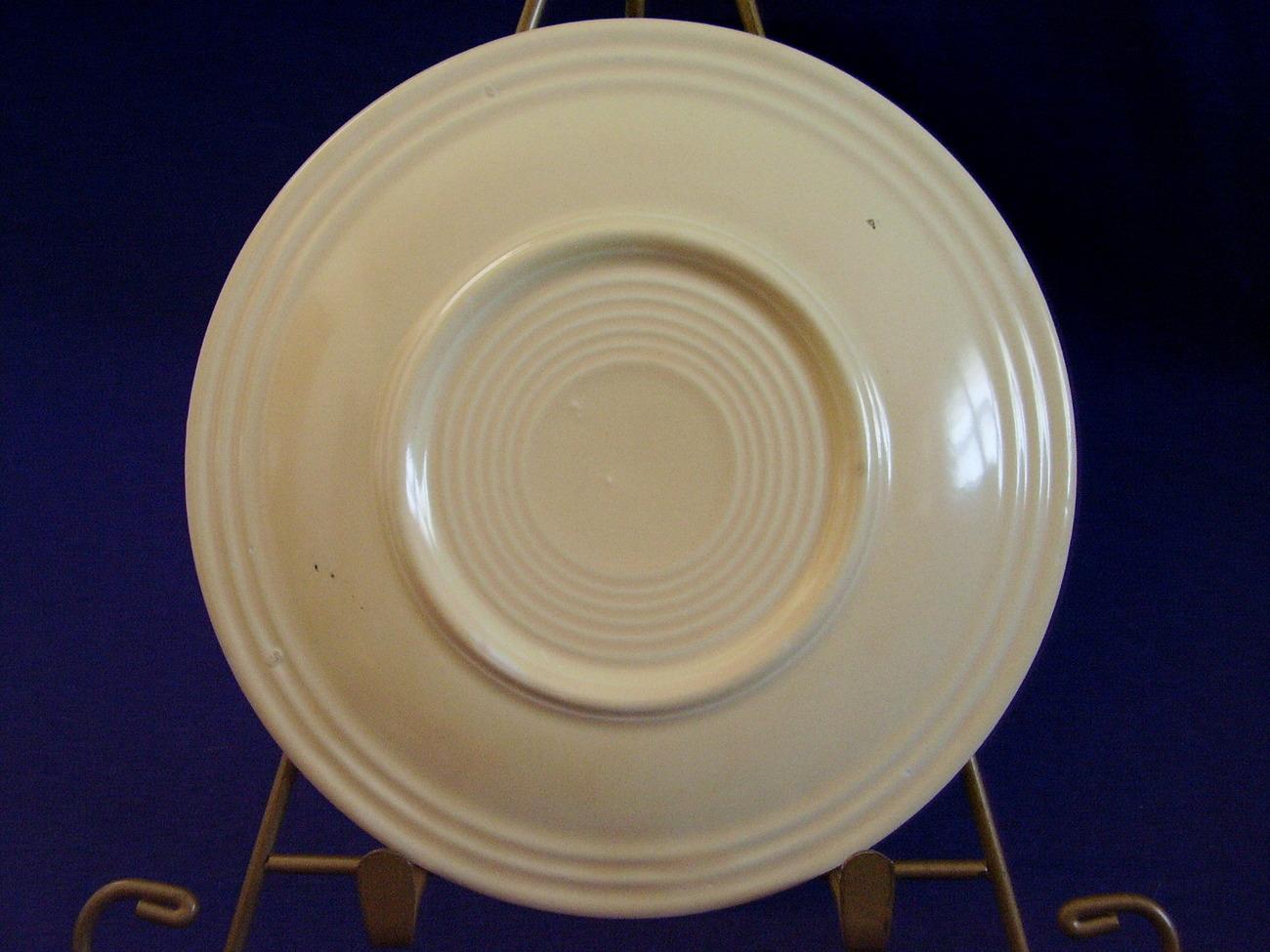 Vintage Fiestaware Ivory Bread Butter Plate Fiesta  C