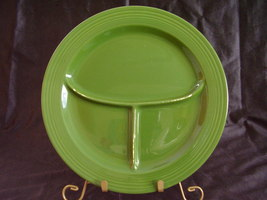 Vintage Fiestaware Forest Green Compartment Grill Plate  - $65.00
