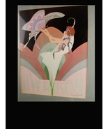 framed paris print / Harry Wysocki / Boudoir Art / Vintage Art Deco lith... - $125.00