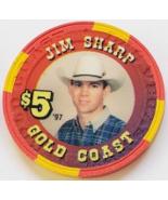 Las Vegas Rodeo Legend Jim Sharp '97 Gold Coast $5 Casino Poker Chip - $19.95