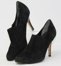 Cole Haan Size 8.5 B Air Black Suede Leather Fashion Heel Booties Shoes Women's - $37.99