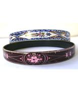 2 Vintage Michaela Wille Frey Gilt Bracelets Pink Blue Enamel Signed - $26.00