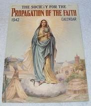 Catholic Propagation of Faith Calendar 1942 J. Watson Davis - $9.95