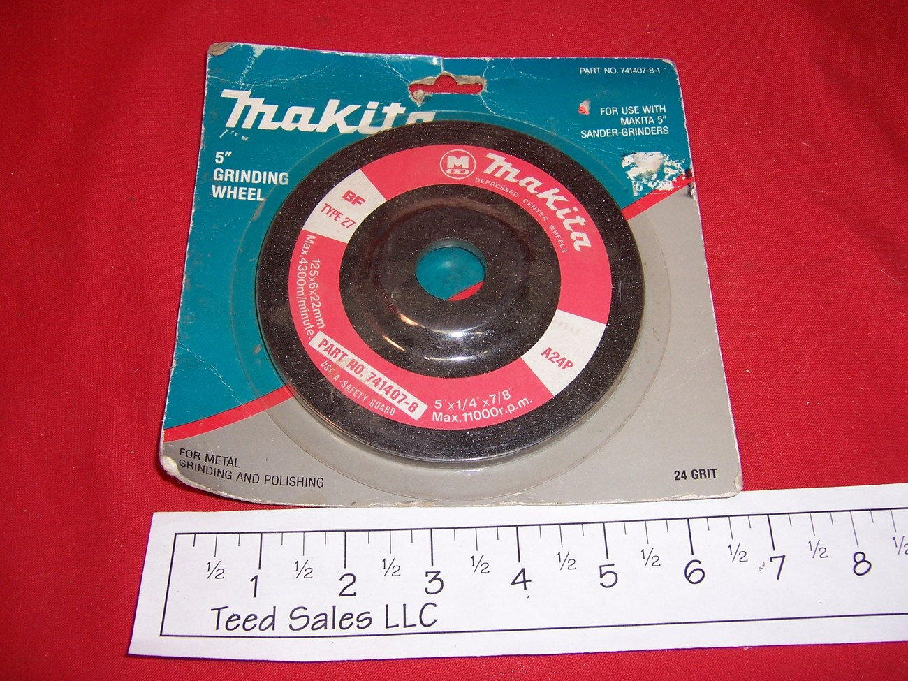 "5"" Makita Grinding Wheel 24 grit"
