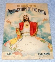 Catholic Propagation of Faith Calendar 1943 J. Watson Davis - $9.95