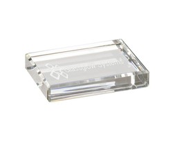 Personalized Clear Acrylic Rectangle Paperweight, Custom Office Gift Pap... - $16.15