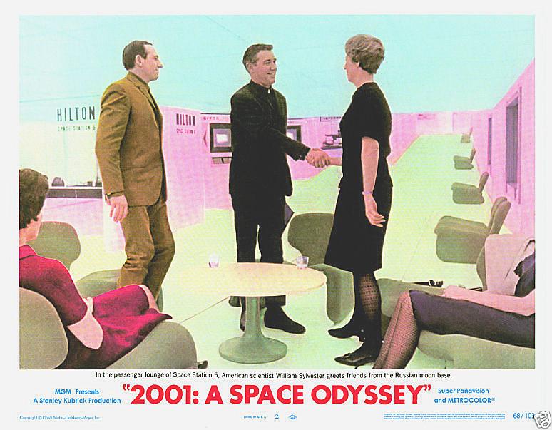 2001 poster 11x14 moonbase